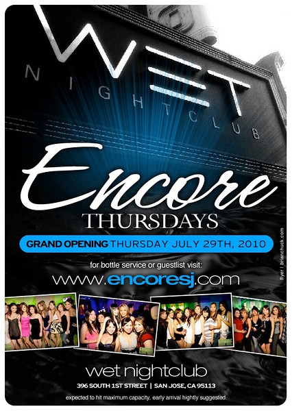 7/29 [Encore Thursday@WET]