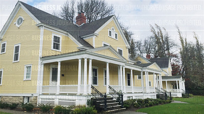 Pictured are some of the historical homes at Fort Lawton in the Magnolia neighborhood of Seattle, Washington