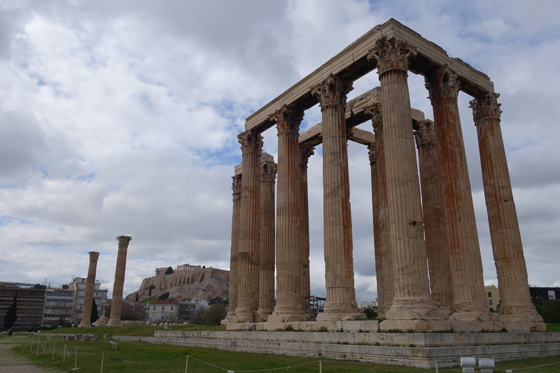 Temple of Olympian Zeus with Acropolis in background