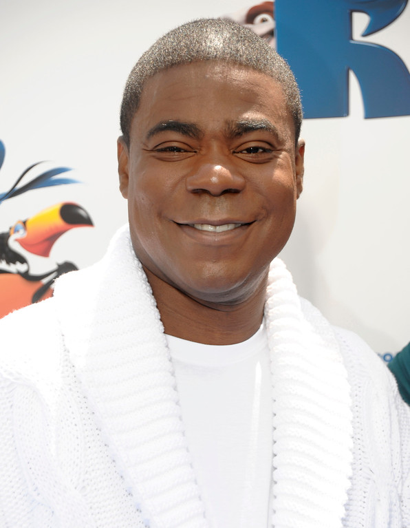 ". Actor Tracy Morgan arrives at the premiere of the animated feature film ""RIO\"" in Los Angeles on Sunday, April 10, 2011. (AP Photo/Dan Steinberg)"