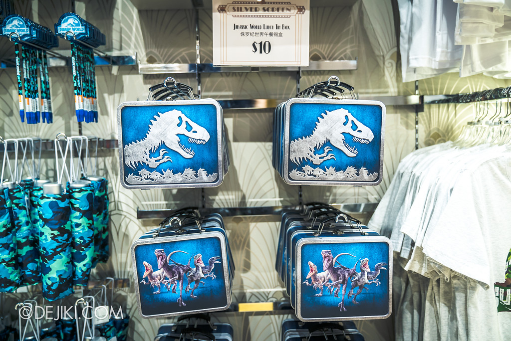Universal Studios Singapore Park Update - Jurassic World Explore and Roar - retail display at Silver Screen Store
