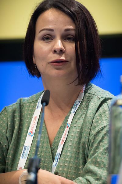22nd International AIDS Conference (AIDS 2018) Amsterdam, Netherlands   Copyright: Marcus Rose/IAS  Photo shows: TB 2018: Bridging the TB and HIV Communities. Discussion: Towards the UN High-Level Meeting on TB Yuliya Chorna, Alliance for Public Health, Ukraine.