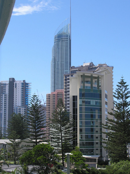 Downtown towers of Surfers Paradise - View from Emerald Sands