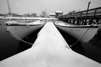 Winter Whaleboat Scenes