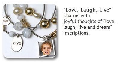Charm Bracelet - Live, Love, Laugh $35