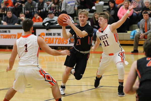 10 Boys Basketball:  Wheelersburg at West 2017