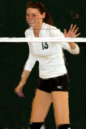 Kent Place Volleyball Impressionist