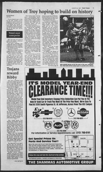 Daily Trojan, Vol. 132, No. 2, August 28, 1997
