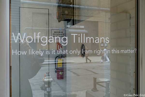 2018 Wolfgang Tilmans - How likely is it that only I am right in this matter?