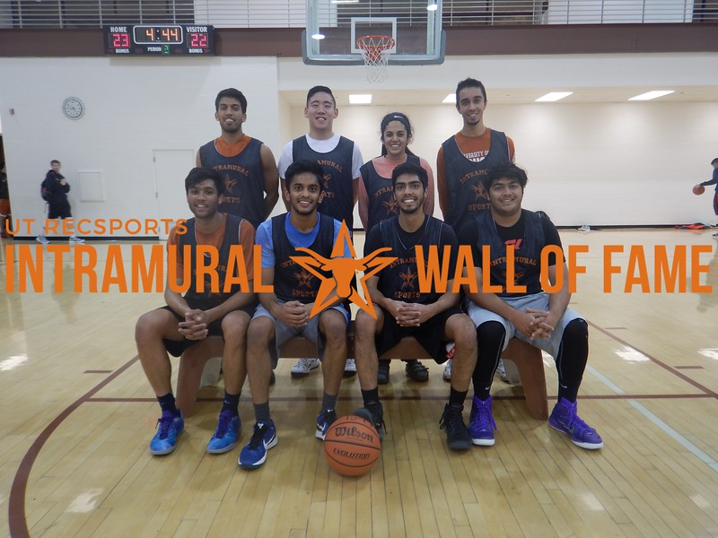 Fall Basketball Men's B Runner Up K3D  R1: Akhil Patel, Ajay Patel, Ronak Patel, Kunal Patel R2: Krisen Chatarpal, Jonathan Ok, Sonali Gupta, Shamis Khan  Not Pictured: Anmol Singh