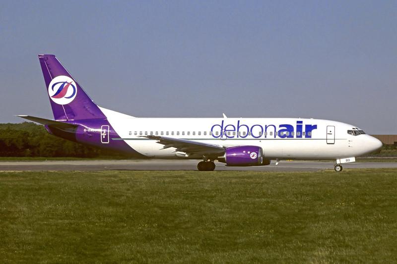 Debonair Boeing 737-3L9 G-OABD (msn 24570) LTN (Christian Volpati Collection). Image: 945897.