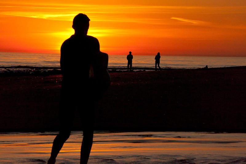 January 24 - Surfer sunset
