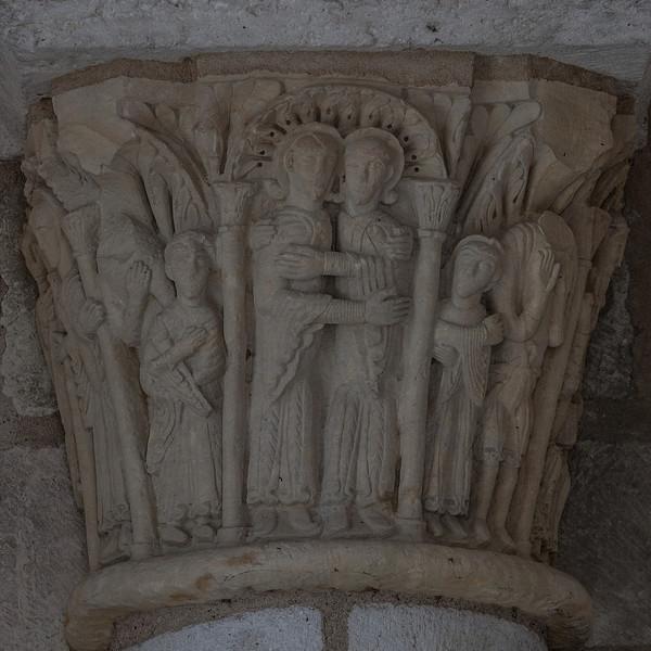 Saint-Benoit-sur-Loire Abbey Narthex Capital, Anna and Joachim at the Golden Gate