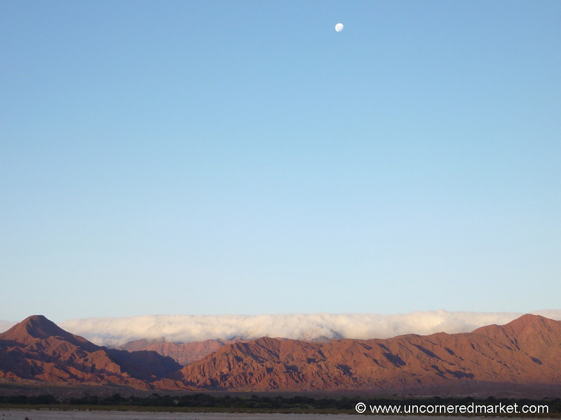 Moon Over the Clouds - Northern Argentina