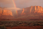 Vermillion Cliffs sunrise and rainbow