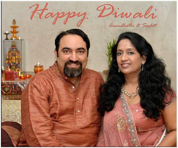 Happy Diwali greetings from Arundhathi and Suchit Nanda, 2012.