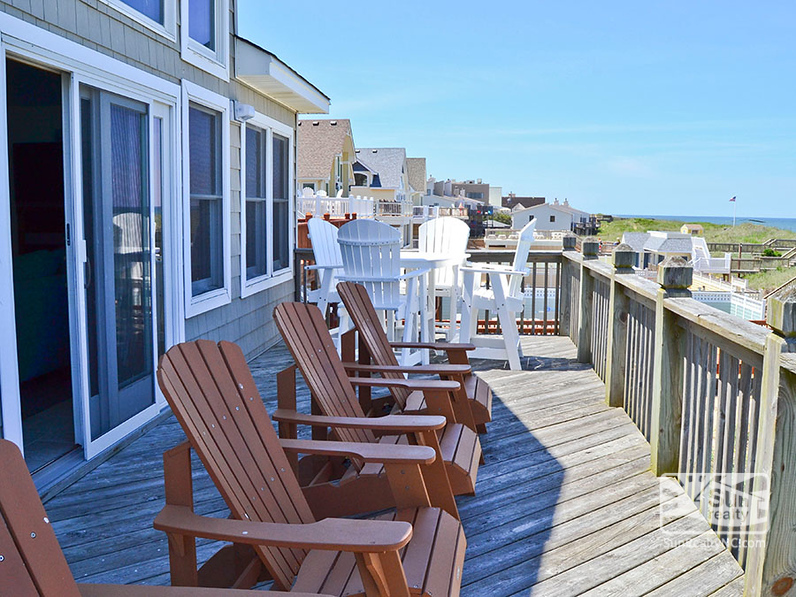Top-Level Deck with Seating and Ocean Views