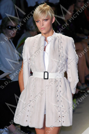 NEW YORK - SEPTEMBER 07:  The J.Mendel show in Bryant Park during Mercedes-Benz Fashion Week.