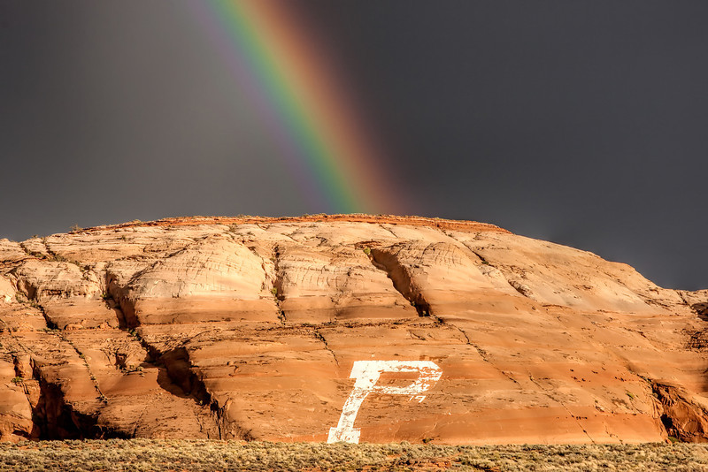 P is for Page, Arizona under a Rainbow