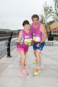 Pictured are Stephen and Denise McCabe who are running the Belfast Half Marathon in aid of Clic Sargent. R1432001