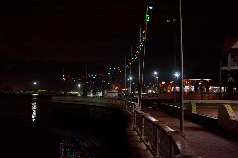 Terengganu River Waterfront At Night