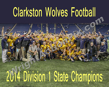 2014 11 29 Clarkston Wolves MHSAA State Championship Team - Go Wolves!!!