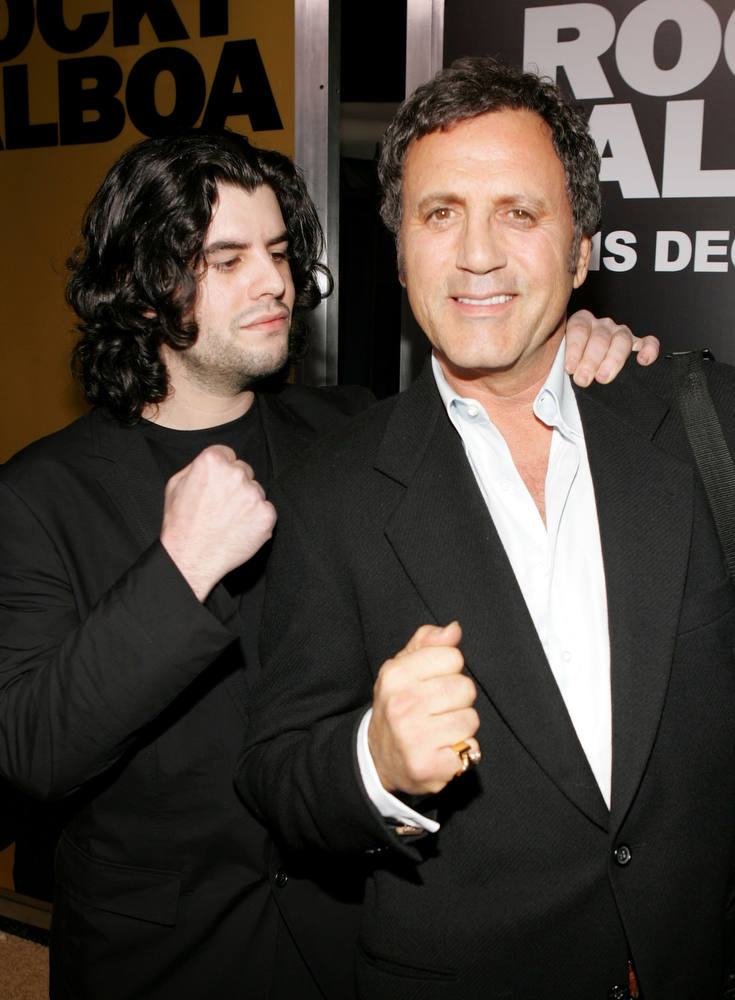. Actor Sage Stallone (seen with Frank Stallone).  (Photo by Frazer Harrison/Getty Images)
