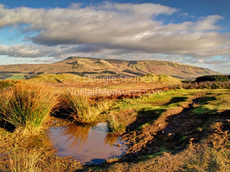 'Queen's View'<br /> 22 January 2012<br /> - the campsies from Auchineden Hill.<br /> Auchengillan, Scotland