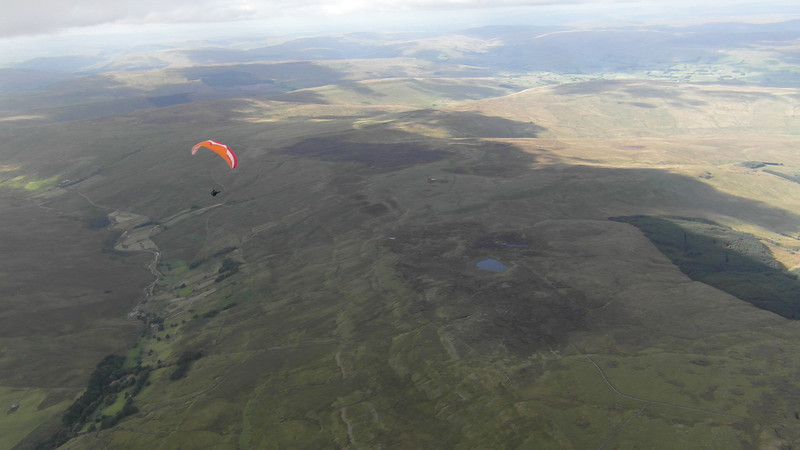 Thermalling over Great Whernside with unknown glider.
