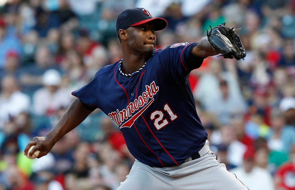 . Twins starter Samuel Deduno gave up one earned run on three hits against the Indians, earning his eighth win of the season.   (Photo by David Maxwell/Getty Images)