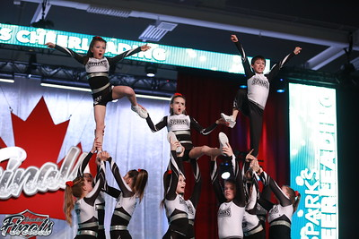Sparks Cheerleading  Heat - Canadian Finals Level 3