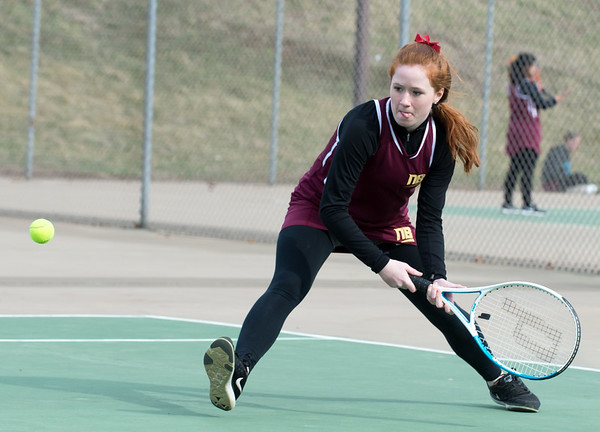 04/02/19 Wesley Bunnell | Staff New Britain girls tennis took on Wilcox Tech in their first matches of the season on Tuesday afternoon. Claire Palin.