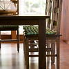 Detail of dining table and chairs