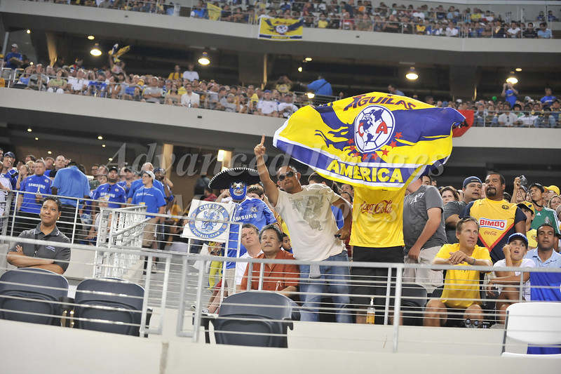 July 26 2009 World Football Challenge - Chelsea FC v Club America:  CA fans  in action at the Cowboys Stadium in Arlington, Texas. Chelsa FC beats Club America 2-0.