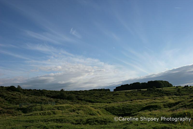 Early evening sky at Charterhouse, Mendip Hills