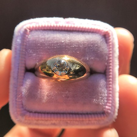 .40ct Old European Cut Antique Gypsy Ring