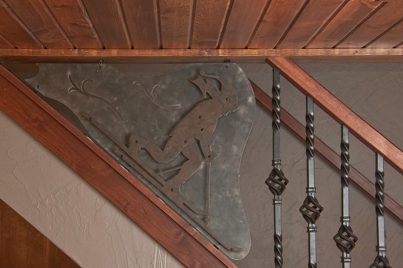 Telemark Skier Railing Sculpture