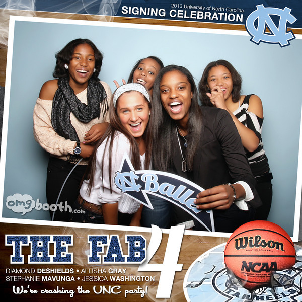 """11.25.2012 The Fab 4 UNC Signing CelebrationSummerour Studio 