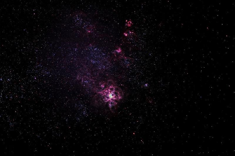 Caldwell 103 - NGC2070 - 30 Doradus Tarantula Nebula - 24/12/2011 (Colour enhanced Processed stack)