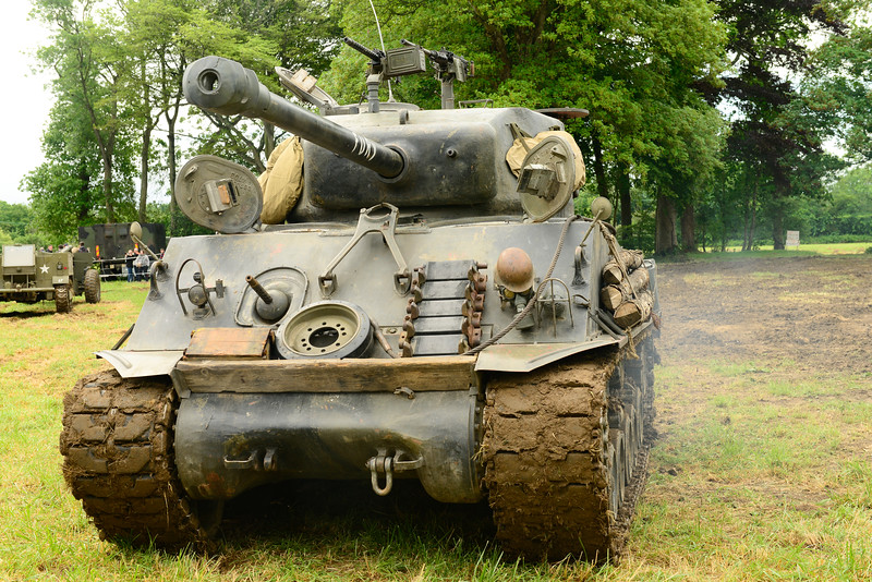 American tank used in the movie Fury