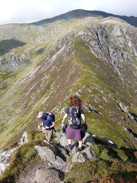 Heading down onto the ridge