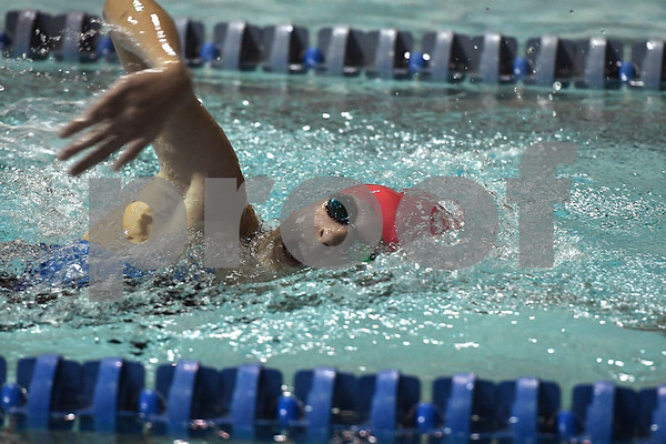10/24/2017 Mike Orazzi | Staff Bristol Eastern's Hope Johnsky during Tuesday's swim meet with Central.