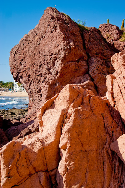Red Rock on the Coast of Mexico