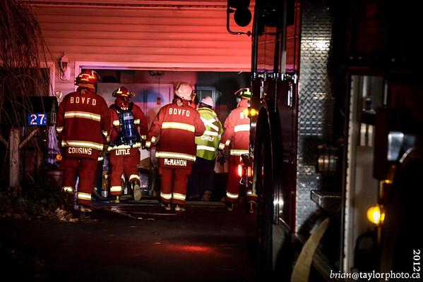 Garage fire Daniel Dr. Berwick, Nov. 18, 2012