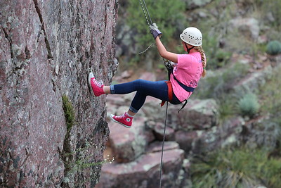 2015 YW Fourth Year Rappelling 8-22-15