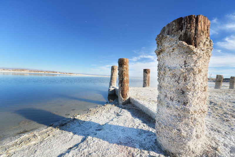 Salton Sea.  Its quite salty there!