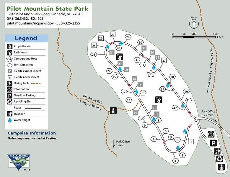 Pilot Mountain State Park (Campground Map)