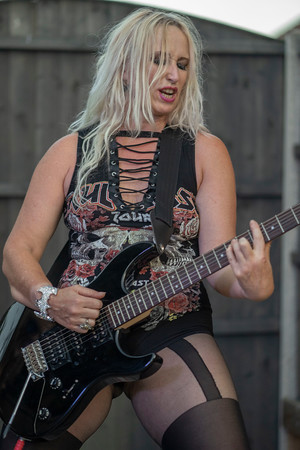 Lead Guitarists and vocalist Gail Noble