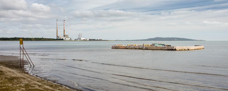 Poolbeg Power Station and Sandymount Swimming Baths