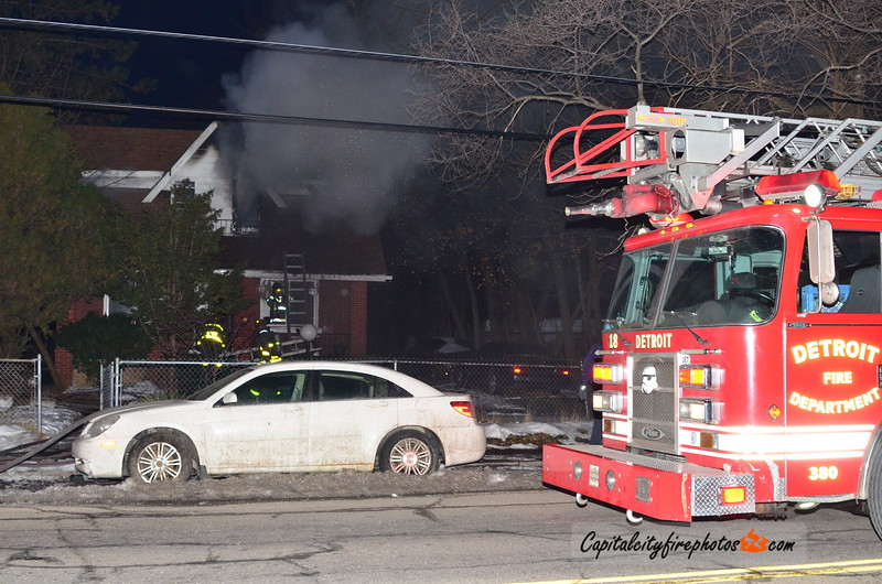 2/17/18 - 18695 Mt. Elliot St - 1821 hours – Engine 56, 60, Hamtramck Engine 1, Ladder 18, Squad 3, Chief 9. Engine 56 stretched on a 2 story, occupied dwelling with fire on the second floor.